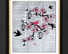 black cherry blossom card - Google Search