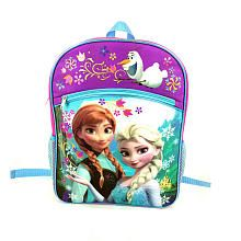 0b63b9efbab Disney Frozen Girl s Large Backpack - Pink and Purple with Blue Trim Frozen  Princess