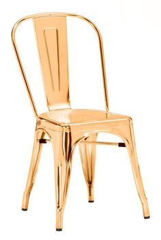 Zuo Modern 108060 Elio Dining Chair Color Gold Steel Finish