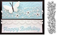 Memory Box Dies - FAIRYTALE FLOWER Border die - 98473 - All Occasion,flowers