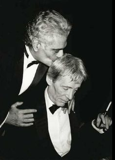 Peter O'Toole and his Lawrence of Arabia co-star Omar Sharif.