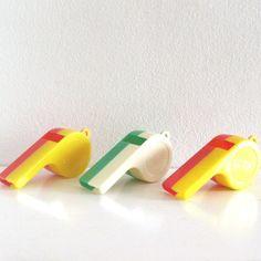3 Vintage Toy Whistles Plastic