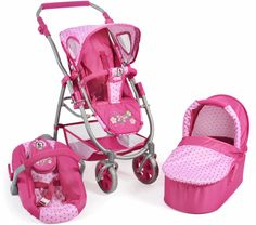 NEW ICOO I'COO BABY DOLL STROLLER GROW WITH ME DOLL ...