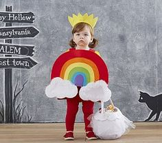 Cute rainbow costume for babies.