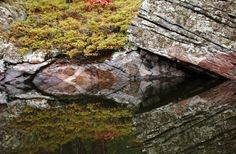 "Check out my art piece ""Split Rock"" on crated.com #art #photography #rock #reflections"