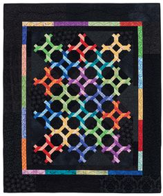 Pipe Dreams by Donna Lynn Thomas, Rainbow recipe. From the book Patchwork Palette.