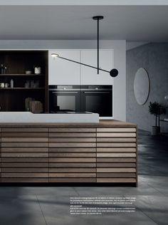 Simple Kitchen Design, Minimal Kitchen, Open Kitchen, Kitchen Interior, Cool Kitchens, Interior Design, Room, Furniture, Design Ideas