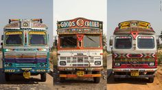 Check out some of these wild and colorful paint schemes. For trucks drivers in India, their vehicle is a home away from home.