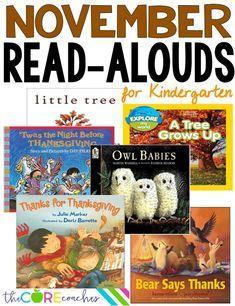 November read-alouds for kindergarten