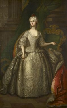 """""""Augusta, Princess of Wales (1719-1772)"""", Charles Philips, 1737; Royal Collection Trust 405648"""
