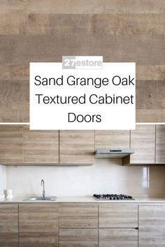 A minimalist design can transform how you spend your time in the kitchen. Avoiding excessive clutter not only makes it easier to find what you are looking for but it also makes it easier to do meal prep. Along with reducing clutter using a color scheme that keeps things bright and open can further that look. Our Sand Grange Oak Textured cabinet doors are natural wood tones that are not overwhelming. Modern Kitchen Cabinets, Kitchen Cabinet Colors, Get On The Floor, Off White Paints, Quick Quotes, Oak Doors, Upper Cabinets, Contemporary Interior Design, Interior Doors
