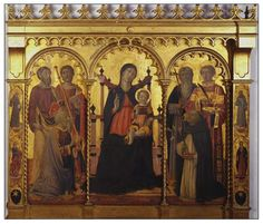 Il Vecchietta | Madonna and Child Enthroned with Saints.