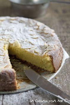 Lemon cake, ricotta and almonds without flour - In The Kitchen with Me Italian Cake, Italian Desserts, Tortilla Sana, Tortillas Veganas, Torte Cake, Little Cakes, Pound Cake Recipes, Bakery Cakes, Almond Cakes