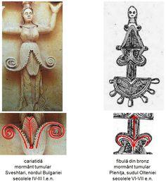 Fibula din bronz descoperită la Pleniţa, judeţul Dolj, datând din secolele VI-VII e.n.