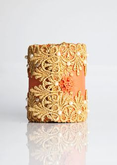 Handmade Leather Peach Cuff Wallet Accessory by CuffNGo on #Etsy. An exquisite and unique accessory for the spring.