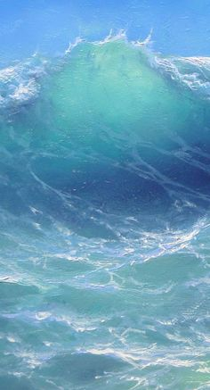 "208 - ""Atlantic Ocean near Bahamas"", Gallery Wrap Canvas Giclee print No Wave, Water Waves, Sea Waves, Sea And Ocean, Ocean Beach, All Nature, Ocean Art, Atlantic Ocean, Belle Photo"