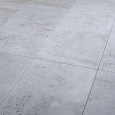 Reclaimed Grey Matt Concrete effect Porcelain Floor tile, Pack of 6, (L)600mm (W)300mm Concrete Tiles, Concrete Design, Cheap Bathroom Tiles, Small Bathroom, Bathroom Ideas, Bathrooms, Insulated Garden Room, Tile Floor Diy, Kitchen Flooring