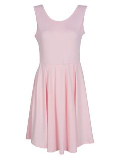 Buy Pink Open Back Asymmetric Pleated Dress from abaday.com, FREE shipping Worldwide - Fashion Clothing, Latest Street Fashion At Abaday.com