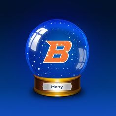 Be Merry this Holiday Season!  #BoiseState #happyholidays #snowglobe