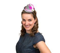 40d340886b6 Mini Oktoberfest Party Hat w  Pink Trim. Oktoberfest CostumeOktoberfest  PartyParty HatsHair AccessoryFastenersFestivalsHeadbandsGermanOktoberfest