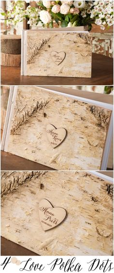 Rustic country wood wedding guest book #rusticwedding #countrywedding #weddingideas