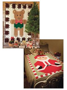 Create a holiday picture with individual crocheted granny squares!