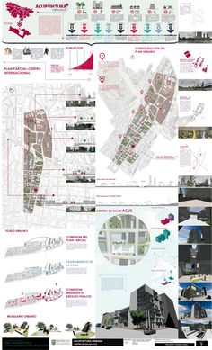Taller 5-Acupuntura Urbana/Proyecto Zonal Landscape Architecture, Landscape Design, Site Analysis, Urban Fabric, Presentation Design, Urban Design, Poster, Layout, How To Plan