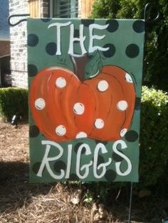 Personalized Halloween Garden Flag by KandyRiggsDesigns on Etsy, $30.00
