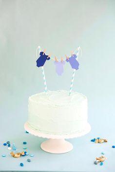 Baby BoyOnesieCake Topper DIY| Oh Happy Day!