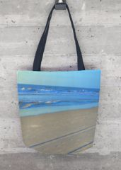 TRACKS ON THE BEACH TOTE BAG  This gorgeous all-over printed tote bag - made in California, United States - features sturdy, weather-resistant fabric and dual 100% natural cotton bull denim shoulder straps. Make a beautiful, artful statement with this stand out, all-season VIDA Tote Bag - whether on an afternoon stroll around town or a weekend out of town.  MADE IN CALIFORNIA, UNITED STATES ShopVida Michelle K. Smith VIDA Designs www.shopvida.com/collections/michelle-k-smith