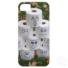 Toilet Paper Pyramid iPhone 5 Covers