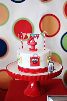 Robot Birthday Party! - Kara's Party Ideas - The Place for All Things Party
