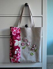 Tote bag modern meadow