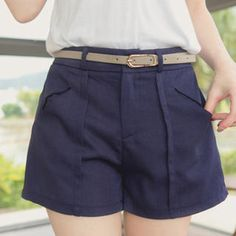 Buy 'Tokyo Fashion – Elastic-Waist Pintuck Shorts with Belt' with Free International Shipping at YesStyle.com. Browse and shop for thousands of Asian fashion items from Taiwan and more!