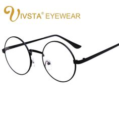 543ae23d7fa IVSTA Vintage Round Glasses Men Harry Potter Glasses Frame Prescription  Eyewear Clear Glasses Women Optical Frame