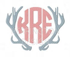 This listing is for an open Deer Antler Embroidery Frame for Machine Embroidery. It is open to place names, initials or any text you want. This