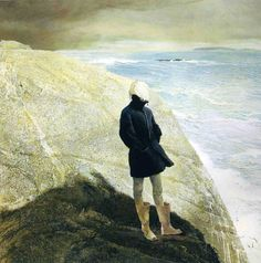 Andrew Wyeth (American, On the Edge, tempera on panel CREDIT: Bank of America Collection. © 2017 Andrew Wyeth / Artists Rights Society (ARS), New York. Jamie Wyeth, Andrew Wyeth Paintings, Andrew Wyeth Art, Nc Wyeth, Beaux Arts Paris, Tempera, American Artists, American Realism, Les Oeuvres