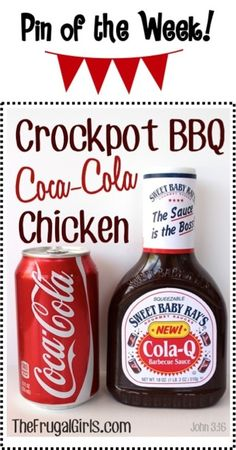 Crockpot BBQ Coca-Cola Chicken Recipe! ~ from TheFrugalGirls.com {this barbecue Slow Cooker dinner is incredibly easy to make and SO delicious!} #slowcooker #recipes #coke #thefrugalgirls