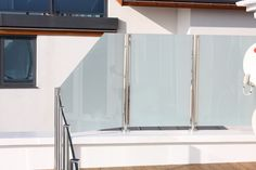 Post Channel Design, Stainless Steel and Opaque Glass Balconies, Metal Working, Channel, Iron, Stainless Steel, Glass, Furniture, Design, Home Decor