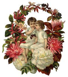 Vintage Floral Kids Scrap ~ LÁMINAS VINTAGE,ANTIGUAS,RETRO Y POR EL ESTILO.... (pág. 599)   Aprender manualidades es facilisimo.com