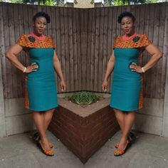 Getting modern African dress styles is a bit of a drag, so we sorted the best collection of the most fashionable African wear in the world. African Print Dresses, African Dresses For Women, African Wear, African Attire, African Fashion Dresses, African Women, Fashion Outfits, African Prints, African Style