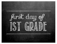 PDF of first day of 1st 2nd 3rd grade ,ect