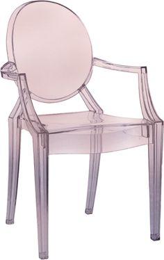 Kartell Lou Lou Ghost Chair | Crystal Pink from Bloomsbury