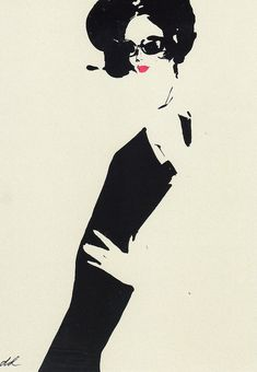 Back to Black by David Downton fashion illustrator