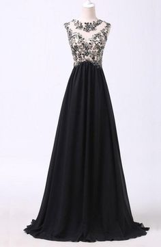 New Arrival Black Appliques prom dresses prom Dress