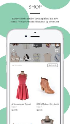 Use thredup anywhere, anytime to shop secondhand treasures at up to 90% off. We're constantly updating our collection with up to 15k new items a day there's 15k reasons to download the app. What will you find?