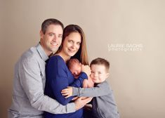 Such a sweet family pose with newborn. Laurie Sachs Photography