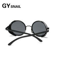 da765a7567d04 GY fashion women steampunk sunglasses brand designer mens round sun glasses  for male sunglasses vintage sunglass retro Oculos uv