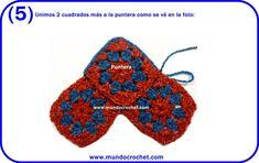 Pantuflas a crochet con cuadrados granny Loom Knitting Patterns, Crochet Patterns, Granny Square Slippers, Joining Granny Squares, Crochet Symbols, Crochet Squares, Learn To Crochet, Slip Stitch, Sock Shoes