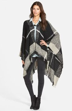 Plaid Blanket Poncho (Online Only). Adorable for rainy days!